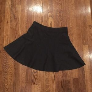 CLUB MONACO dark gray stretch wool M skirt